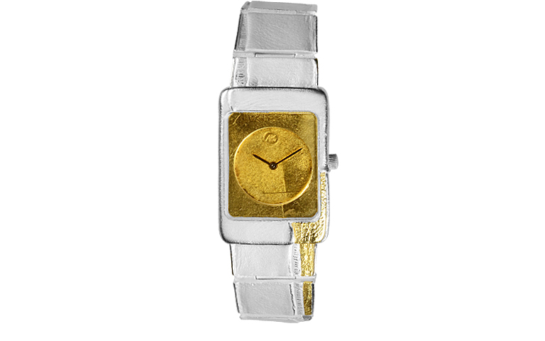 16076-watch, silver 925 and gold 750
