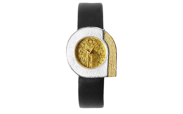 16090-watch, silver 925 with gold 750
