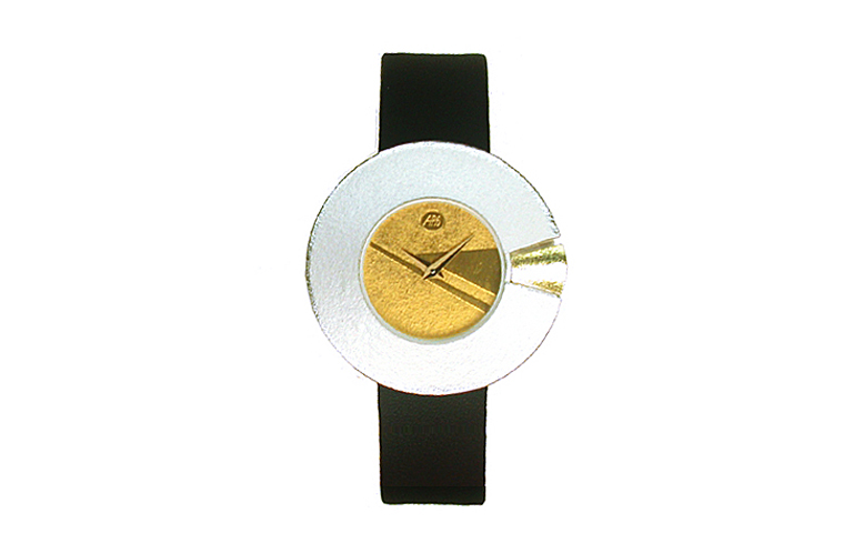 16094-watch, silver 925 with gold 750