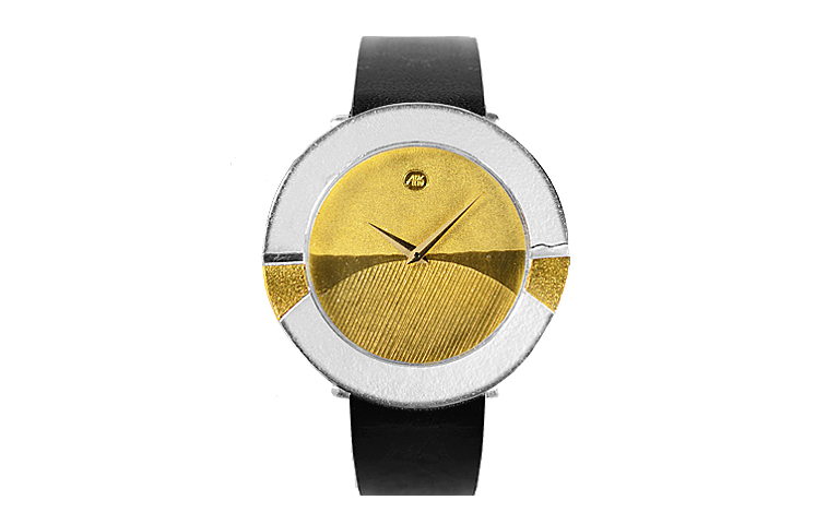 16095-watch, silver 925, gold 750