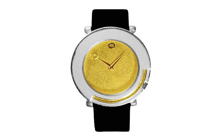 16100-watch, silver 925, gold 750