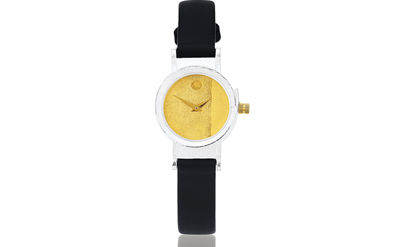 16103-watch, silver 925 with gold 750