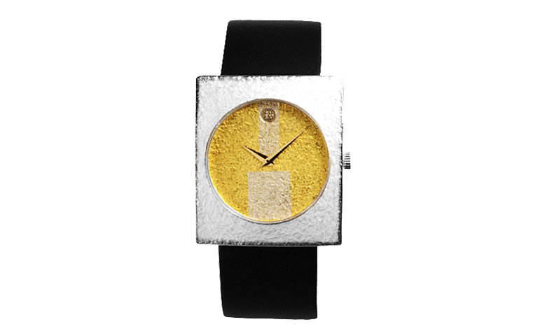16109-watch, silver 925 with gold 750