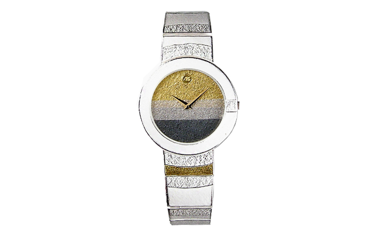 16127-watch, silver 925, gold 750