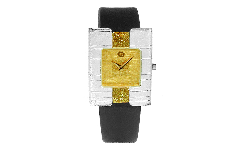 16138-watch, silver 925 with gold 750