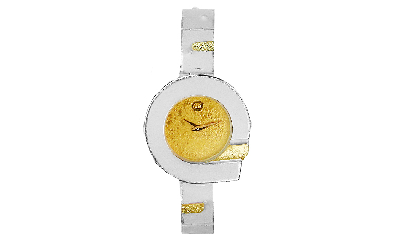 16166-watch, silver 925 with gold 750
