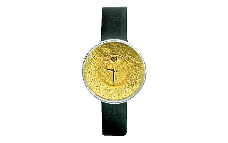 16168-watch, silver 925 with gold 750
