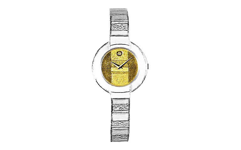 16172-watch, silver 925, gold 750