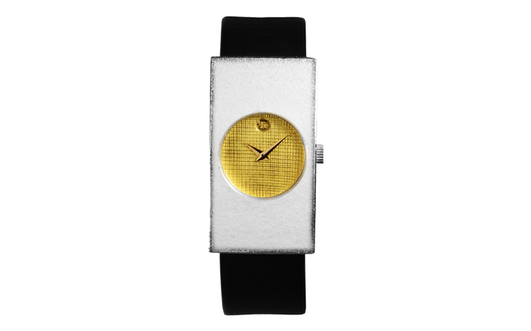 16175-watch, silver 925 with gold 750