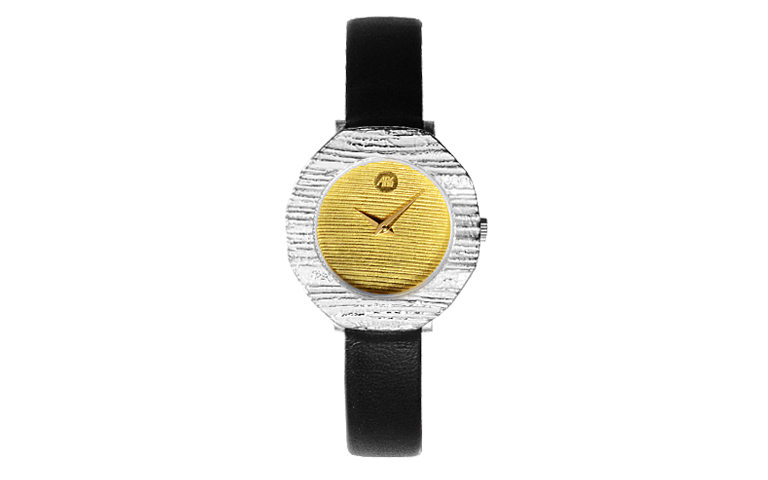 16185-watch, silver 925 with gold 750