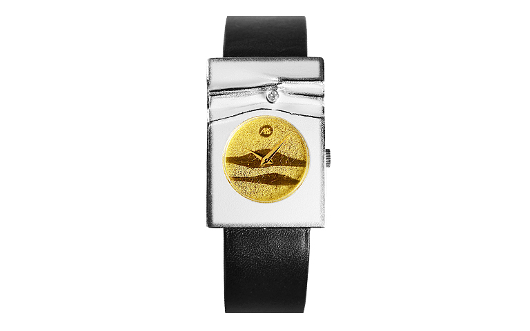16191-watch, silver 925, gold 750, brillant