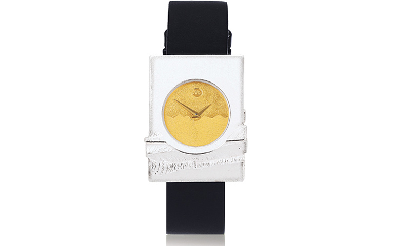 16200-watch, silver 925 with gold 750