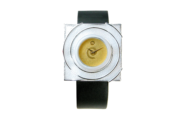 16201-watch, silver 925, gold 750