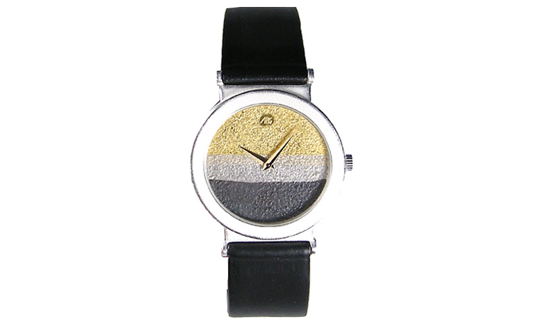 16202-watch, silver 925 with gold 750