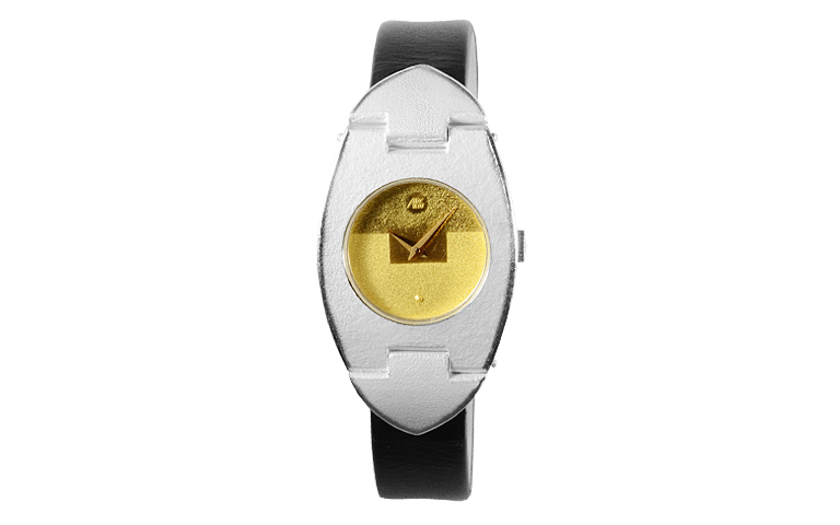 16203-watch, silver 925 with gold 750