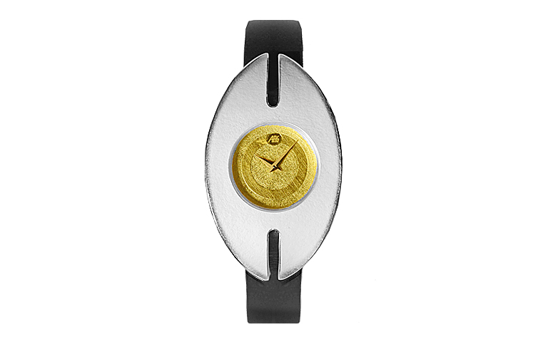 16204-watch, silver 925, gold 750