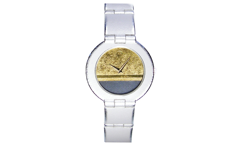 16206-watch, silver 925 with gold 750
