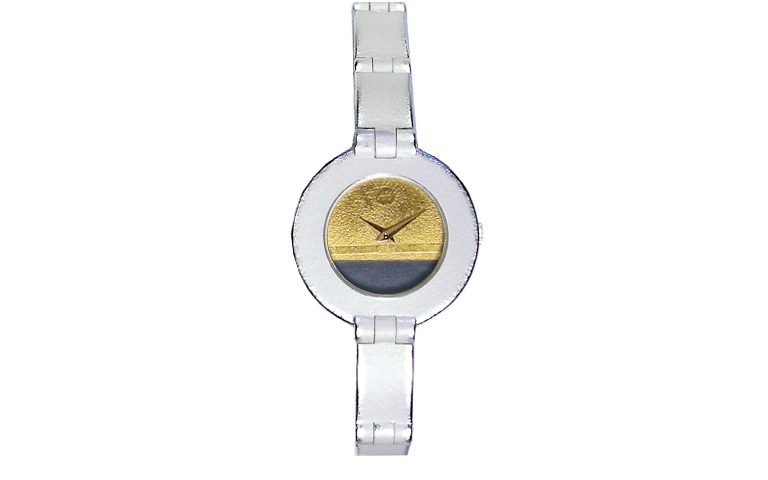 16207-watch, silver 925 with gold 750