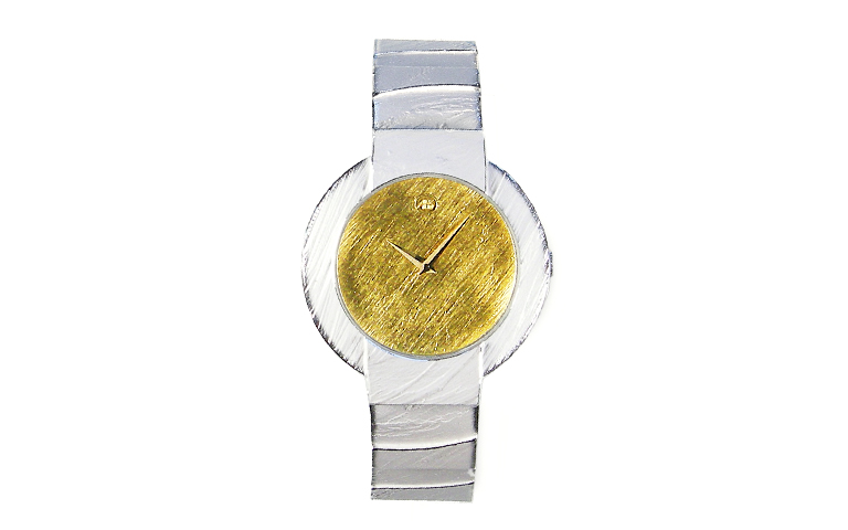 16208-watch, silver 925 with gold 750