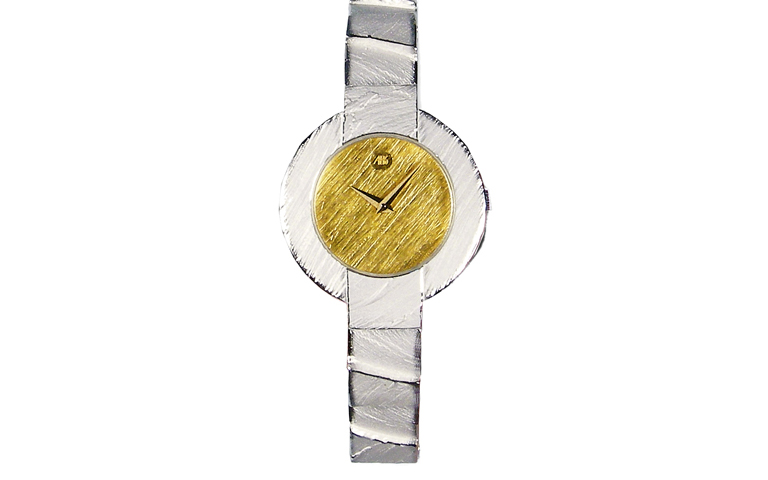 16209-watch, silver 925 with gold 750