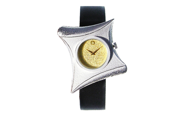16210-watch, silver 925 with gold 750