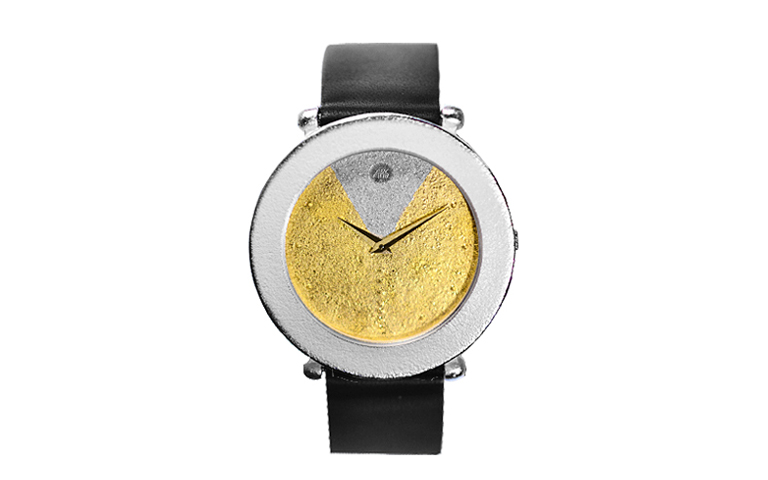 16211-watch, silver 925 with gold 750
