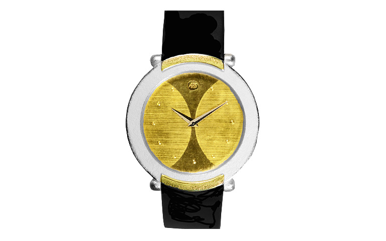16212-watch, silver 925 with gold 750