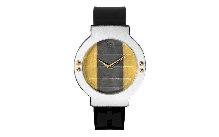 16213-watch, silver 925 with gold 750