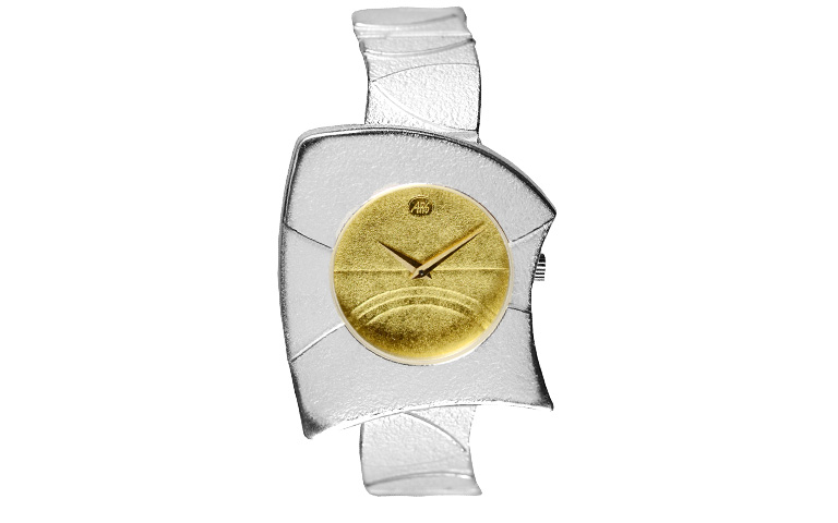 16216-watch, silver 925 with gold 750