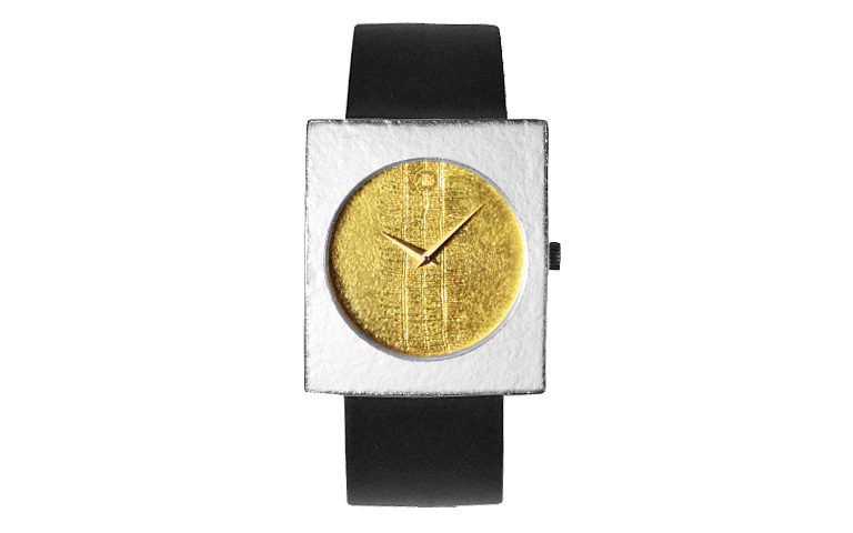 16224-watch, silver 925 and gold 750, figure sheet fine gold