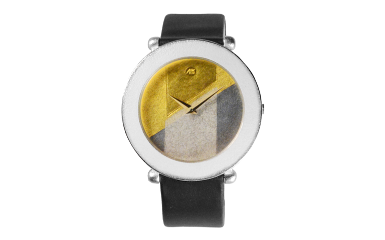 16225-watch, silver 925 with gold 750