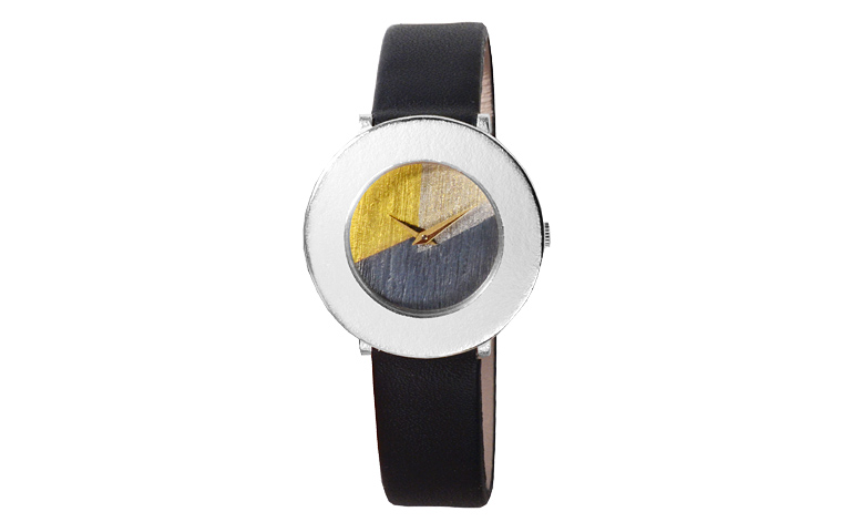 16226-watch, silver 925 with gold 750