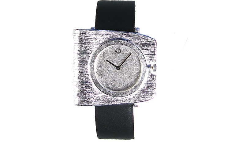 36015-watch, silver 925, with palladium-silver dial