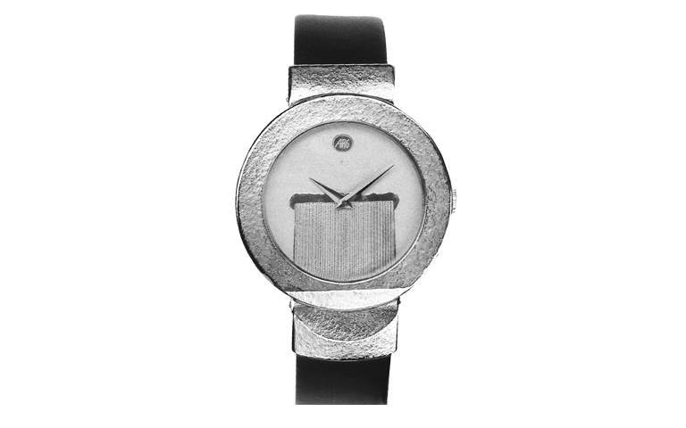 46351-watch, white gold 750