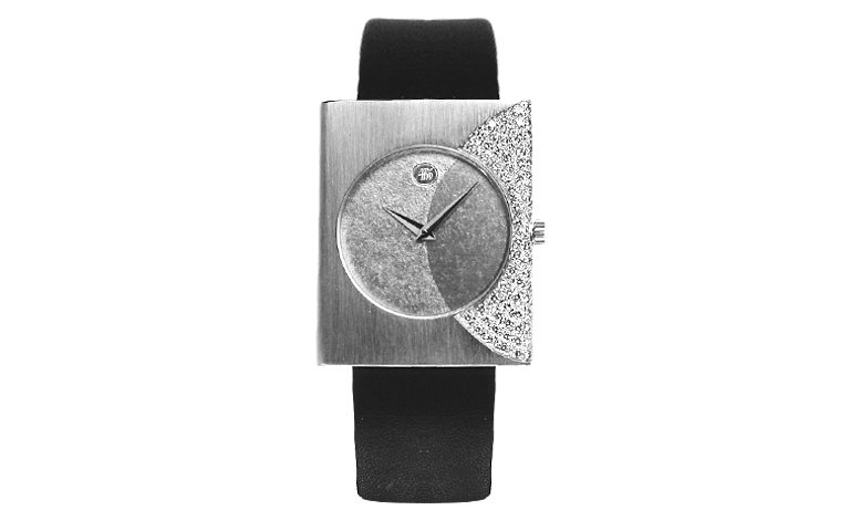 46528-watch, white gold 750 with brillants