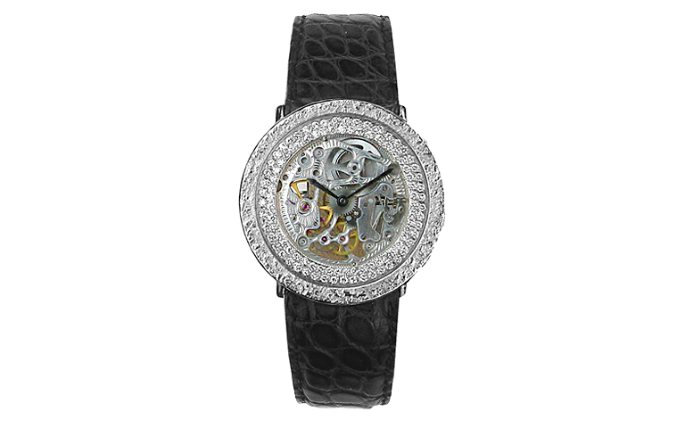 46541-watch, white gold 750