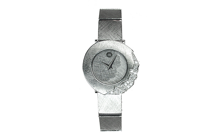 46550-watch, white gold 750