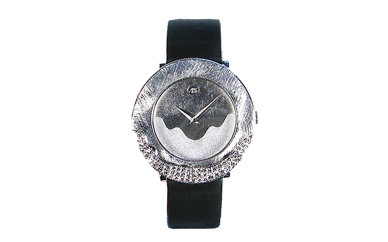 46569-watch, white gold 750 with brilliants
