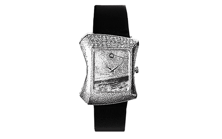 46572-watch, white gold 750 with brilliants