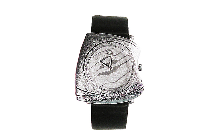 46573-watch, white gold 750 with brilliants