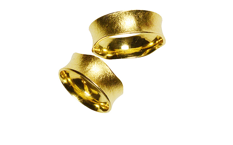 02192+02193-wedding rings, gold 750