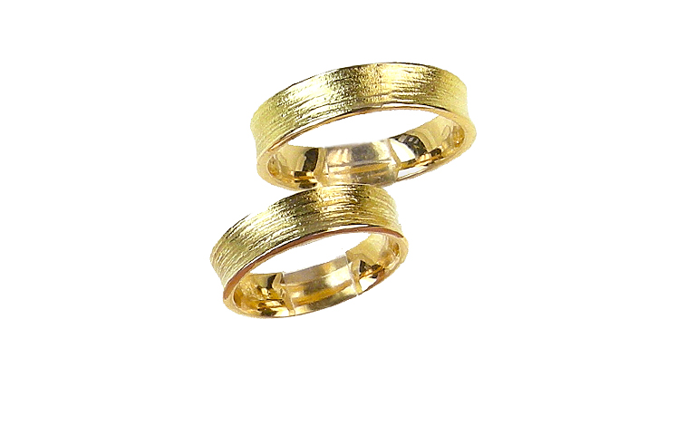 02226+02227-wedding rings, gold 750