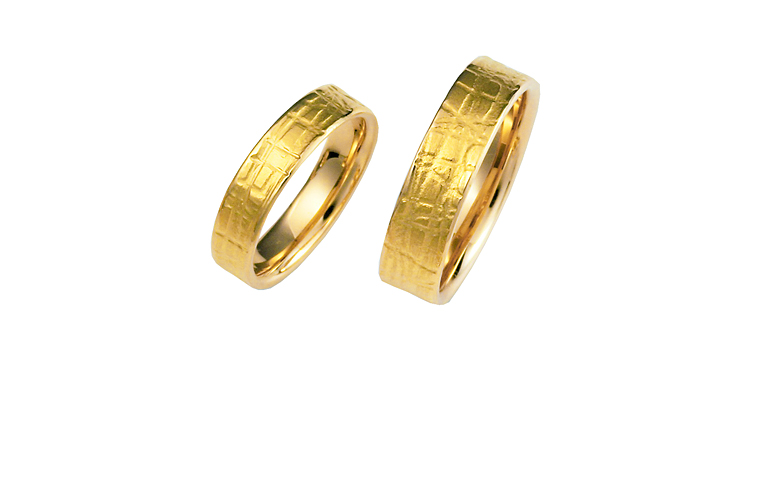 02355+02356-wedding rings, gold 750