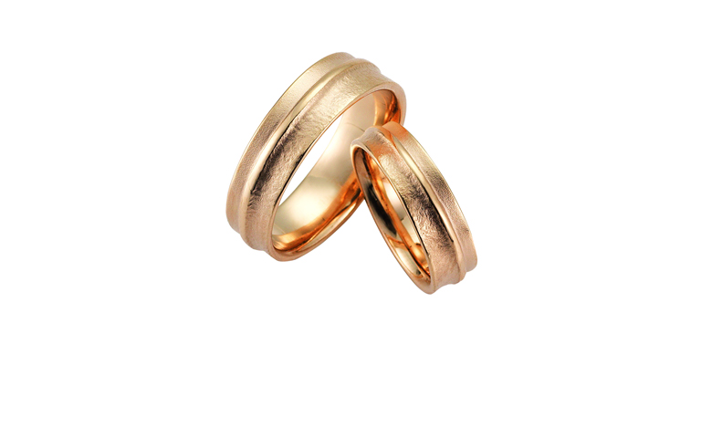 02361+02362-wedding rings, rose gold 750