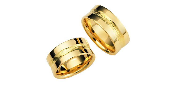 02376+02377-wedding ring, gold 750