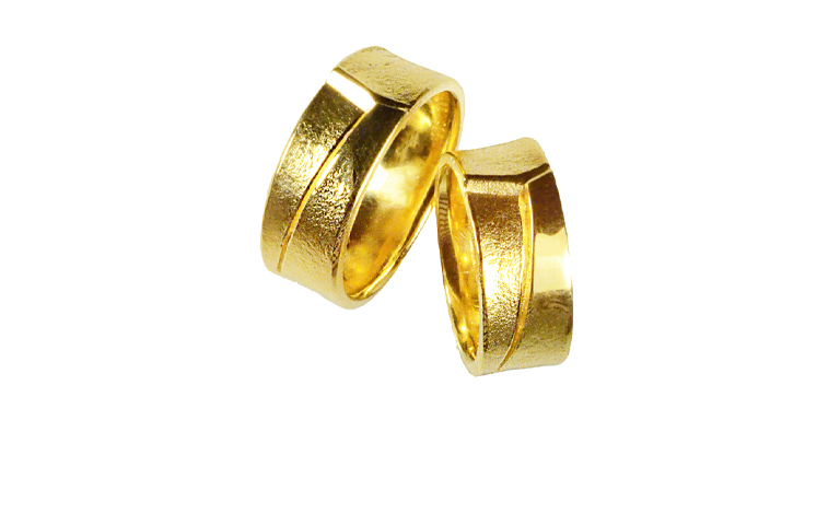 05000+05001-wedding rings, gold 750