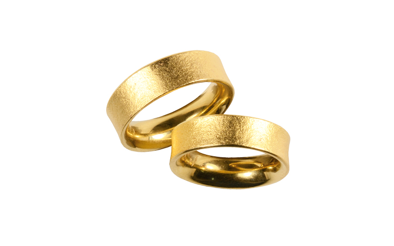 05030+05031-wedding rings, gold 750