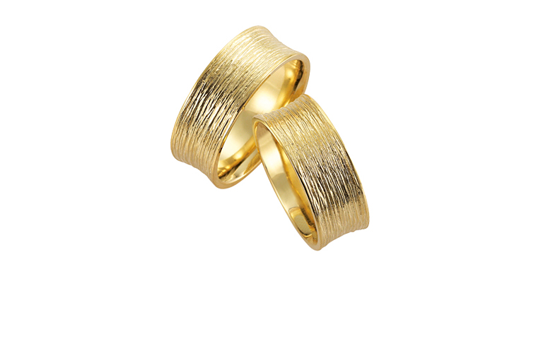 05070+05071-wedding rings, gold 750