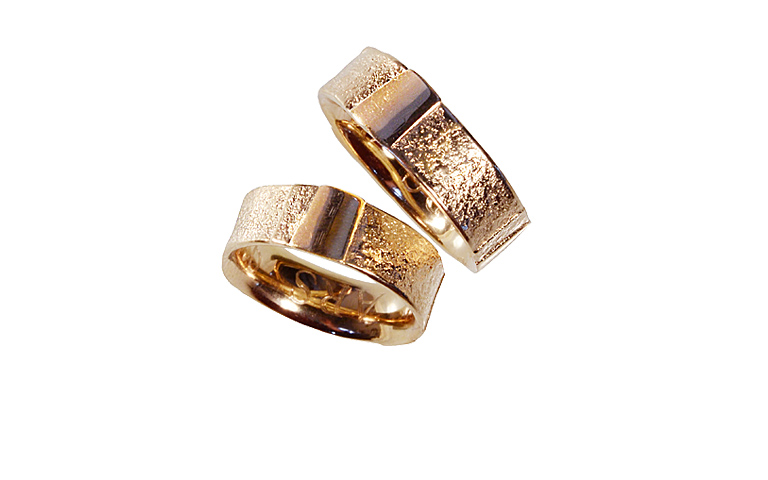 05083+05084-wedding rings, red gold 750