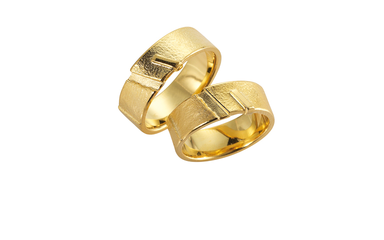 05097+05098-wedding rings, gold 750